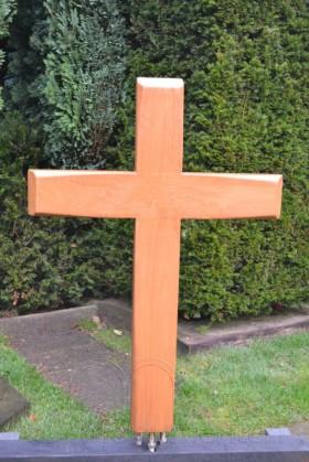 houten kruis, facet afwerking