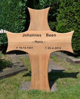 houten kruis, ronde zijkanten